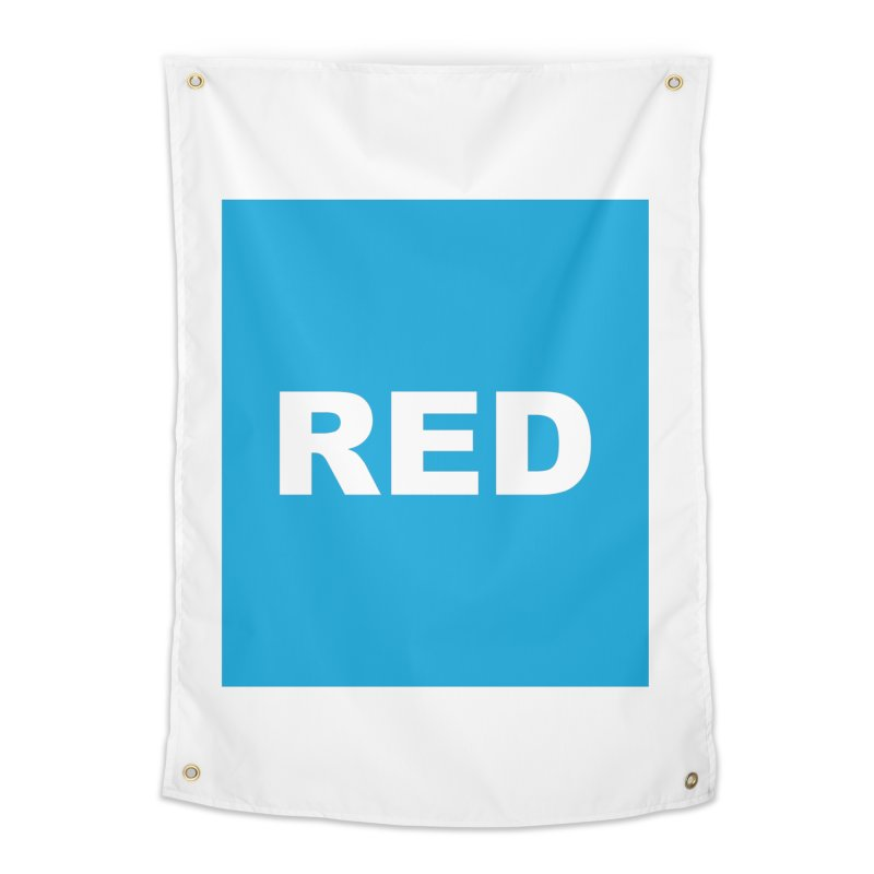 red is blue Home Tapestry by Izzy Berdan's Artist Shop