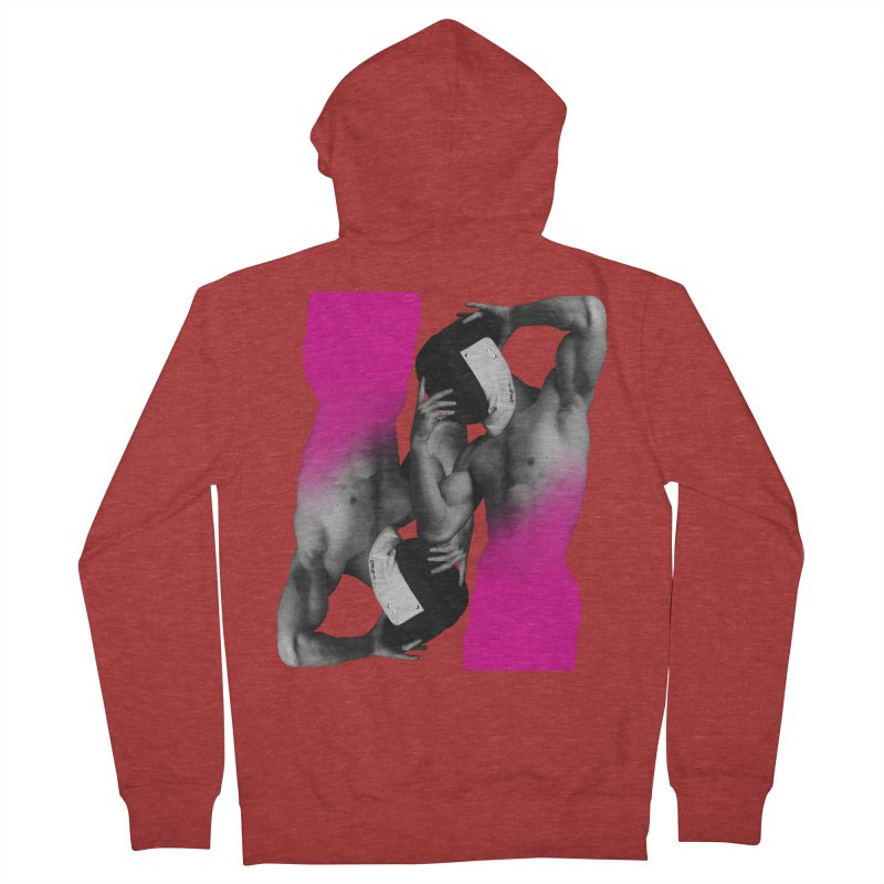 Fade to pink Women's French Terry Zip-Up Hoody by izzyberdan's Artist Shop