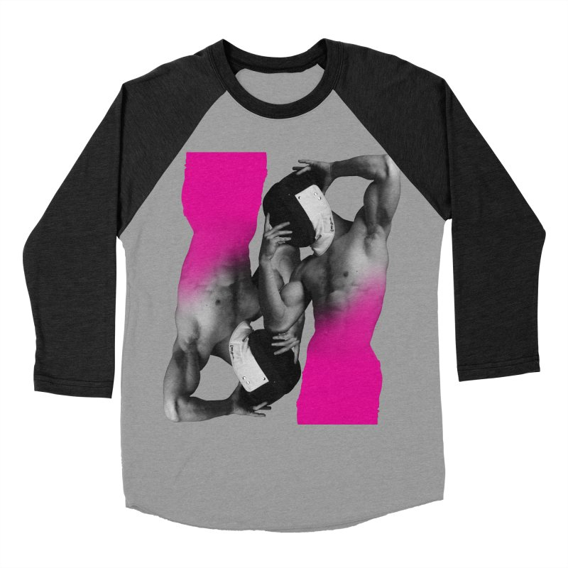 Fade to pink Men's Baseball Triblend Longsleeve T-Shirt by Izzy Berdan's Artist Shop