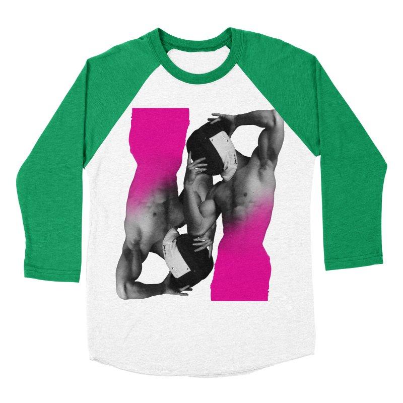 Fade to pink Men's Baseball Triblend Longsleeve T-Shirt by Izzy Berdan's Artist Shop