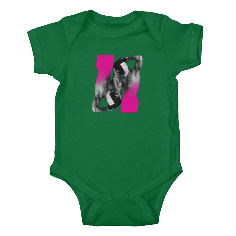 Fade to pink Kids Baby Bodysuit by Izzy Berdan's Artist Shop