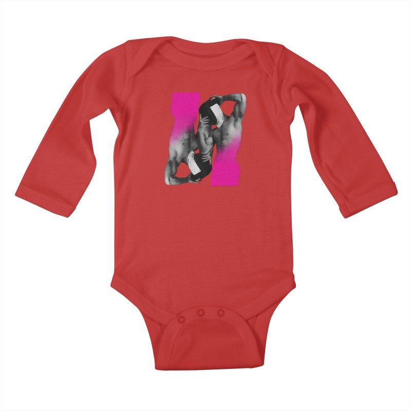 Fade to pink Kids Baby Longsleeve Bodysuit by Izzy Berdan's Artist Shop