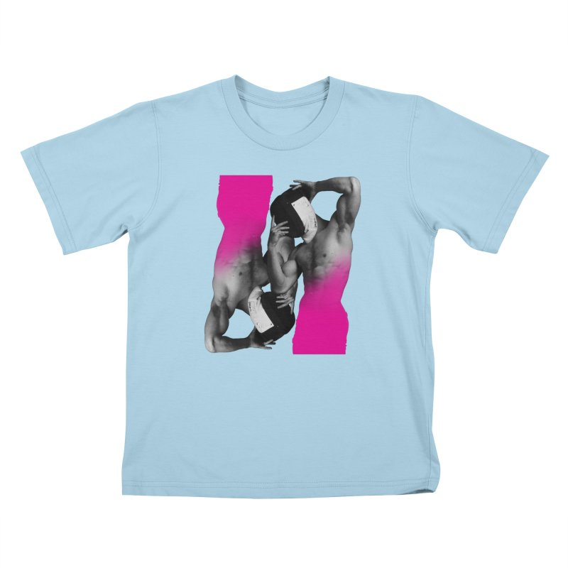 Fade to pink Kids T-Shirt by izzyberdan's Artist Shop