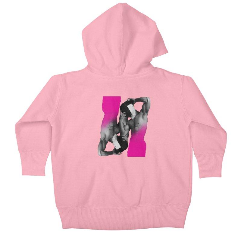 Fade to pink Kids Baby Zip-Up Hoody by Izzy Berdan's Artist Shop