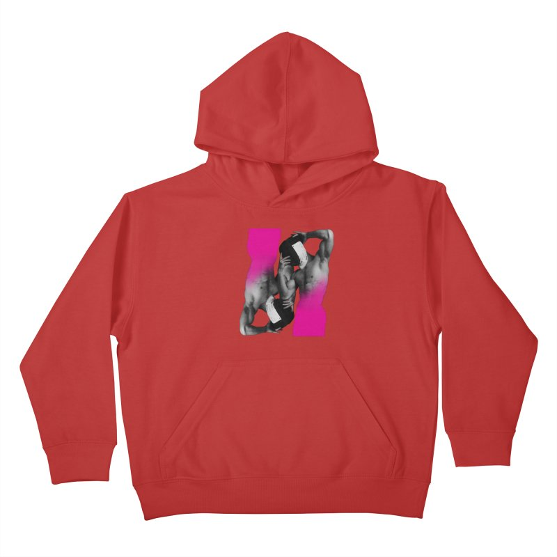 Fade to pink Kids Pullover Hoody by Izzy Berdan's Artist Shop