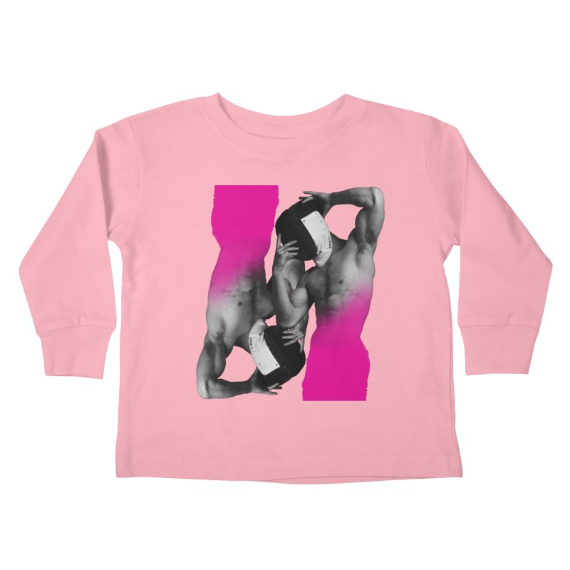 Fade to pink Kids Toddler Longsleeve T-Shirt by Izzy Berdan's Artist Shop