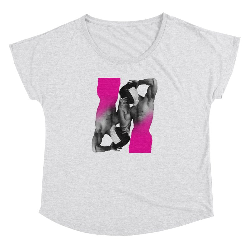 Fade to pink Women's Dolman Scoop Neck by izzyberdan's Artist Shop