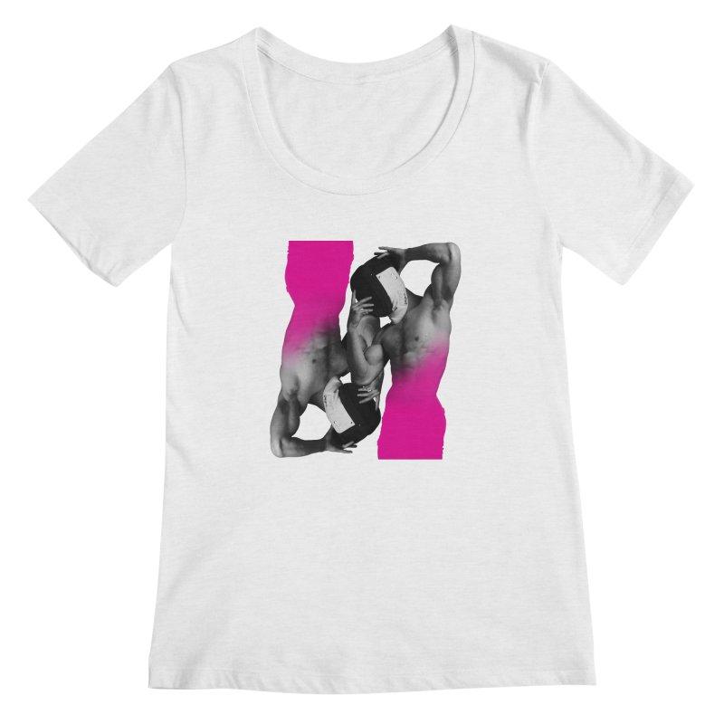 Fade to pink Women's Regular Scoop Neck by izzyberdan's Artist Shop