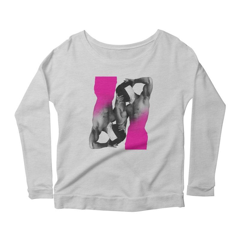 Fade to pink Women's Scoop Neck Longsleeve T-Shirt by Izzy Berdan's Artist Shop