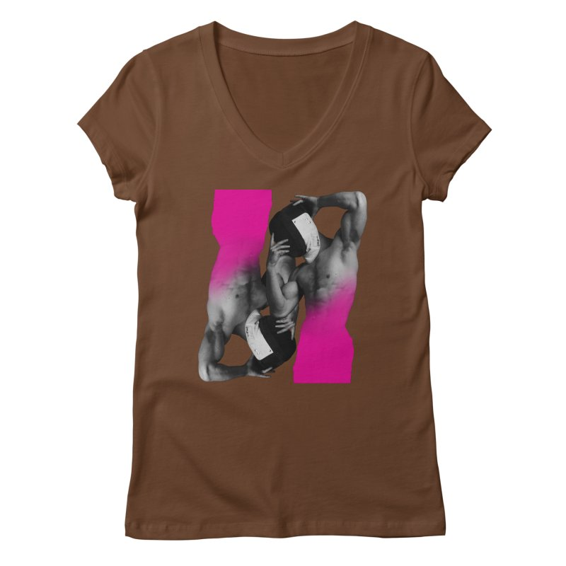 Fade to pink Women's Regular V-Neck by izzyberdan's Artist Shop
