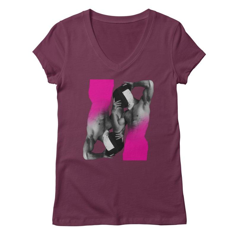 Fade to pink Women's Regular V-Neck by Izzy Berdan's Artist Shop