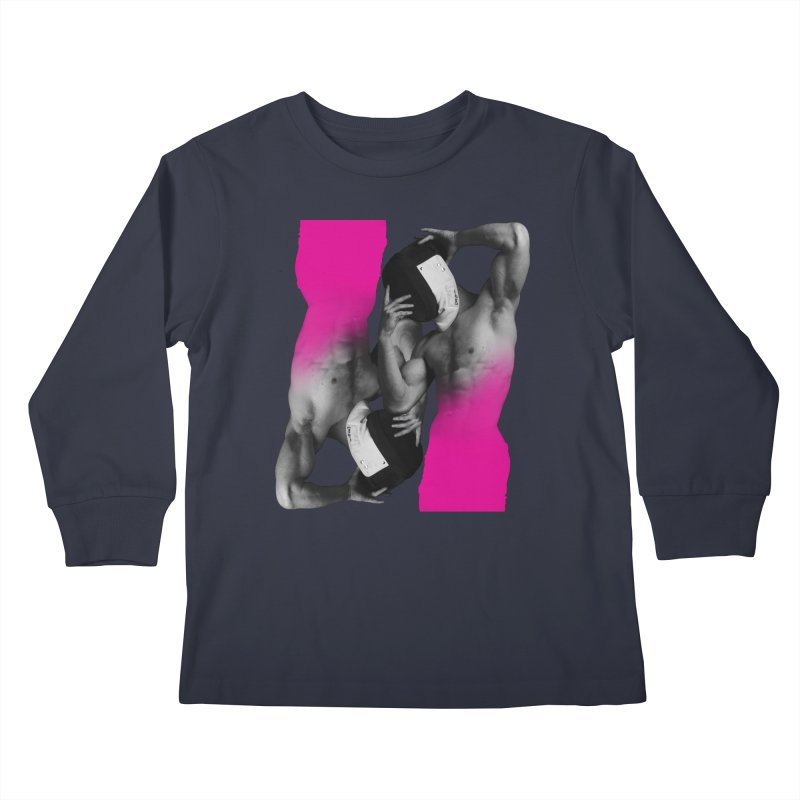 Fade to pink Kids Longsleeve T-Shirt by Izzy Berdan's Artist Shop