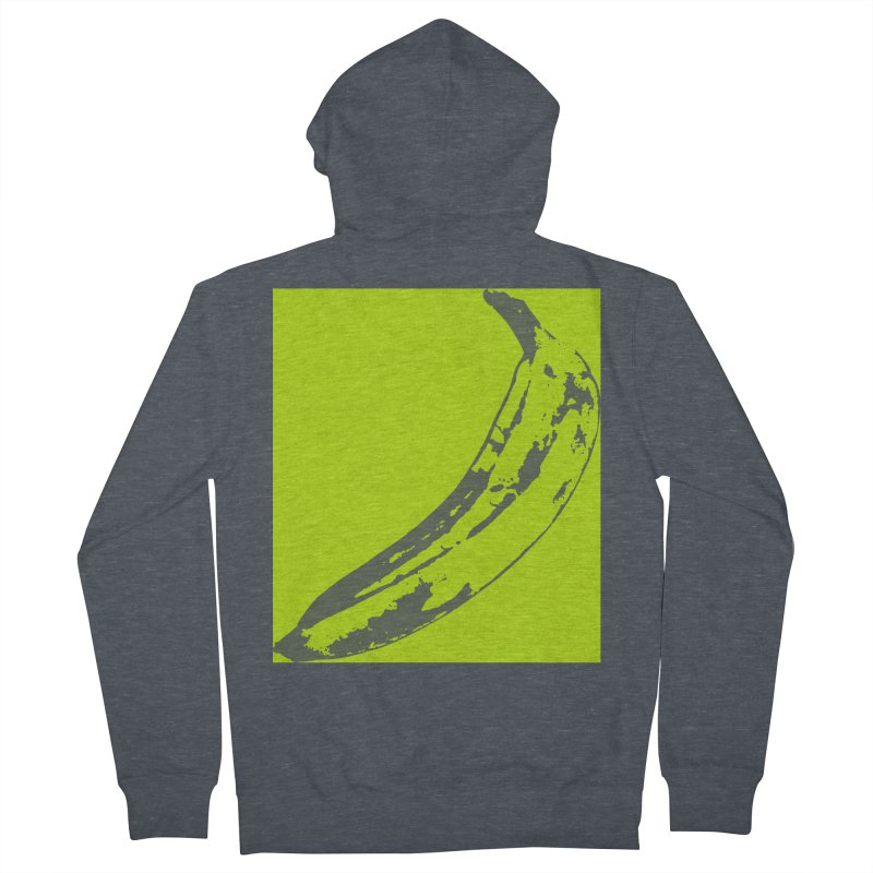 negative plantain Women's French Terry Zip-Up Hoody by Izzy Berdan's Artist Shop