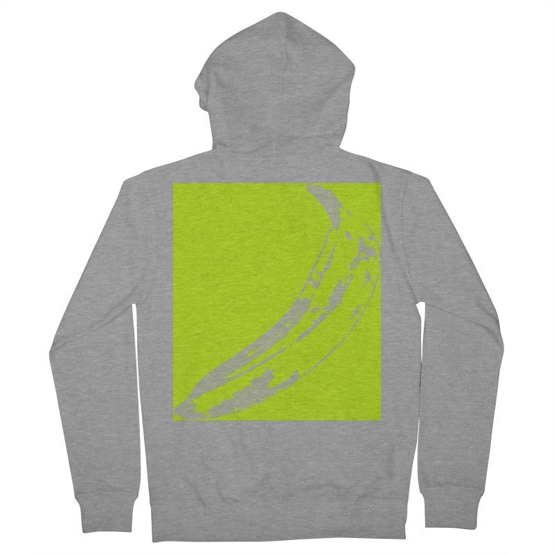 negative plantain Men's French Terry Zip-Up Hoody by Izzy Berdan's Artist Shop