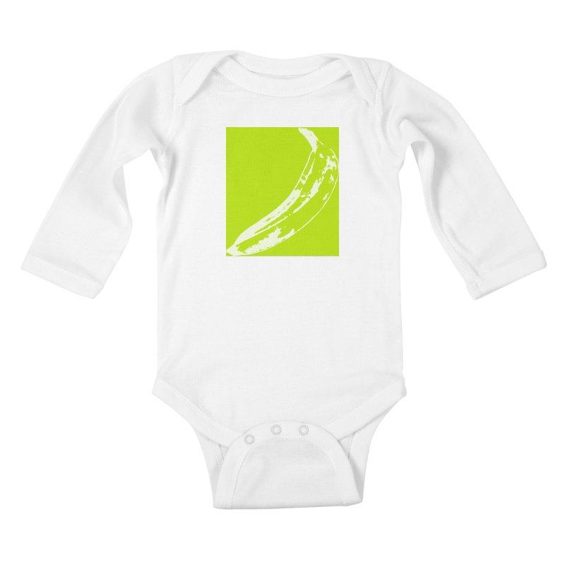 negative plantain Kids Baby Longsleeve Bodysuit by Izzy Berdan's Artist Shop