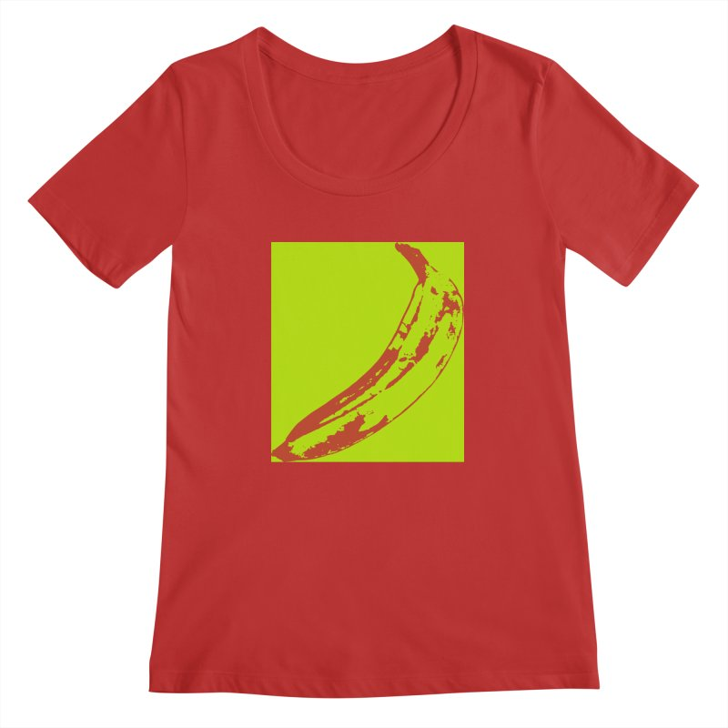 negative plantain Women's Regular Scoop Neck by Izzy Berdan's Artist Shop