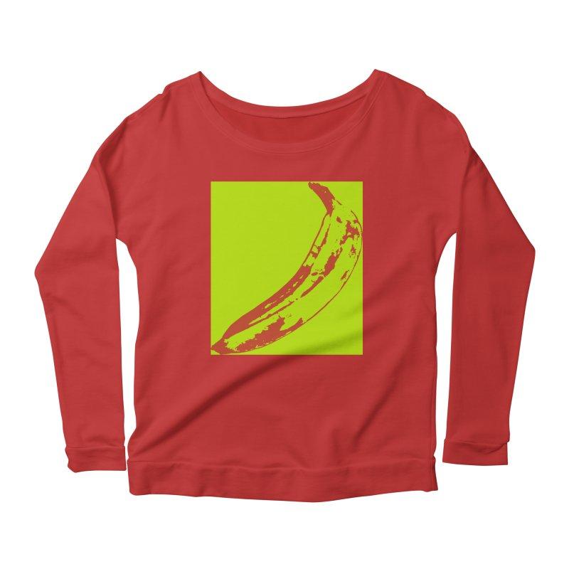 negative plantain Women's Scoop Neck Longsleeve T-Shirt by izzyberdan's Artist Shop