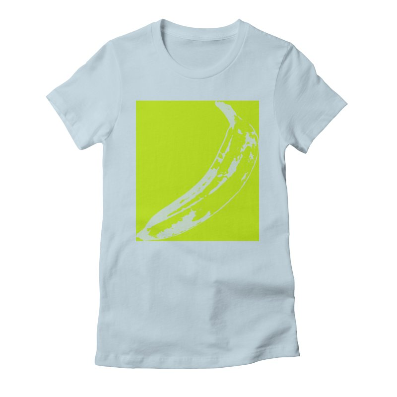 negative plantain Women's Fitted T-Shirt by Izzy Berdan's Artist Shop