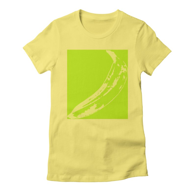 negative plantain Women's Fitted T-Shirt by izzyberdan's Artist Shop