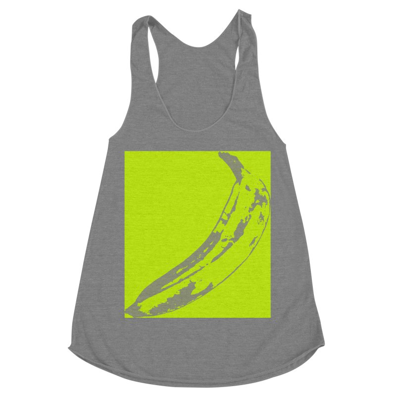 negative plantain Women's Racerback Triblend Tank by Izzy Berdan's Artist Shop