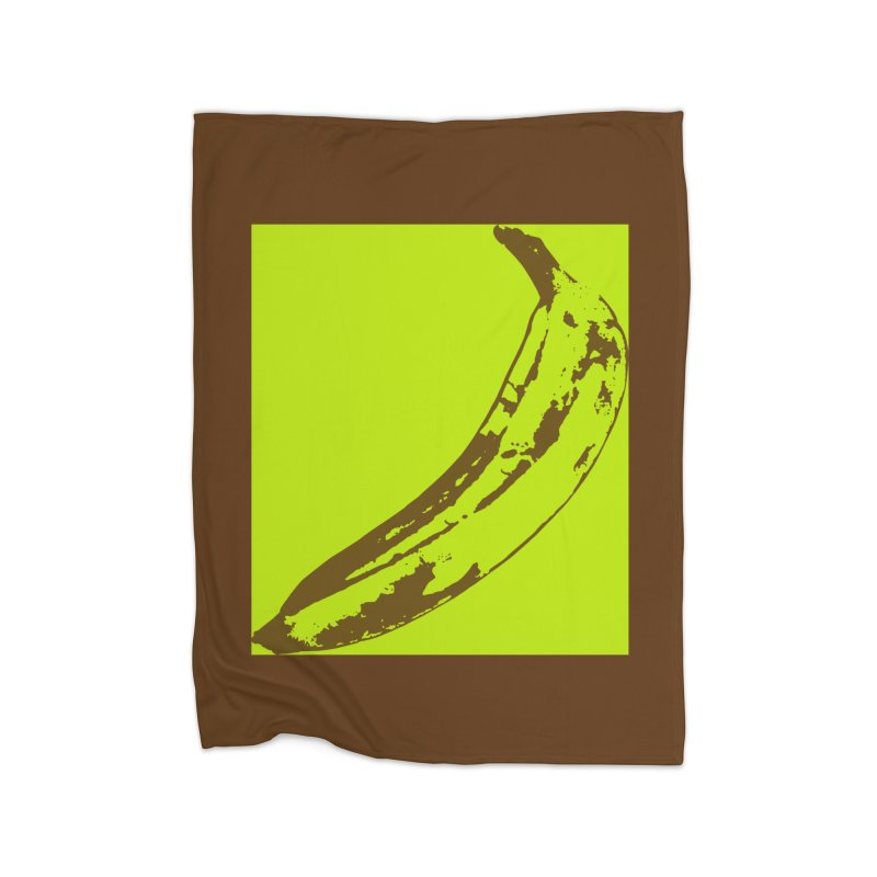 negative plantain Home Fleece Blanket Blanket by Izzy Berdan's Artist Shop
