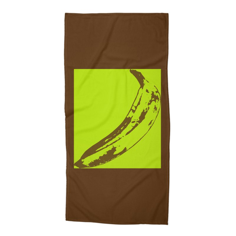 negative plantain Accessories Beach Towel by Izzy Berdan's Artist Shop
