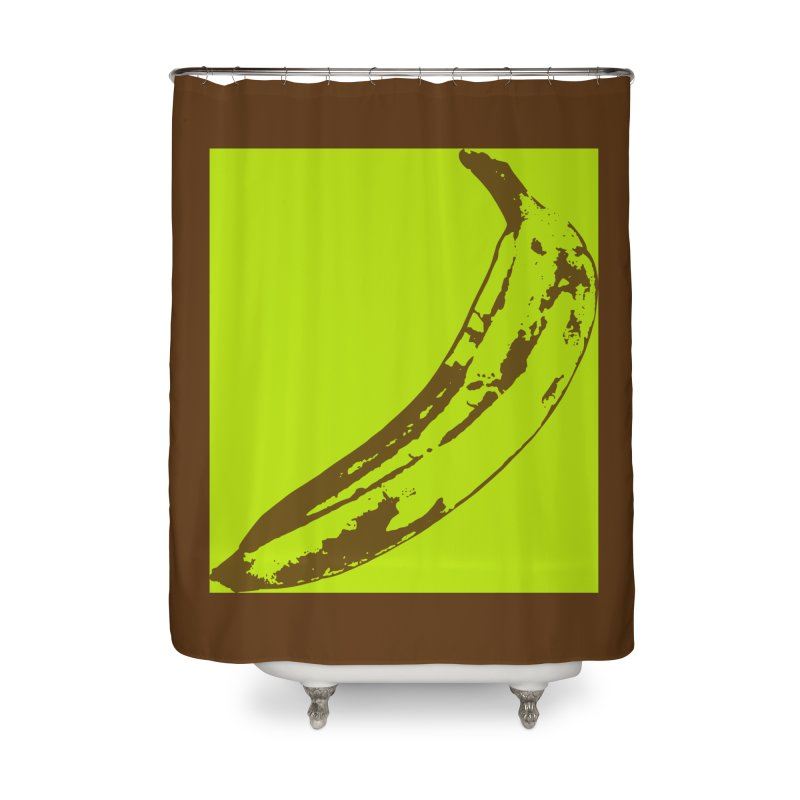 negative plantain Home Shower Curtain by Izzy Berdan's Artist Shop