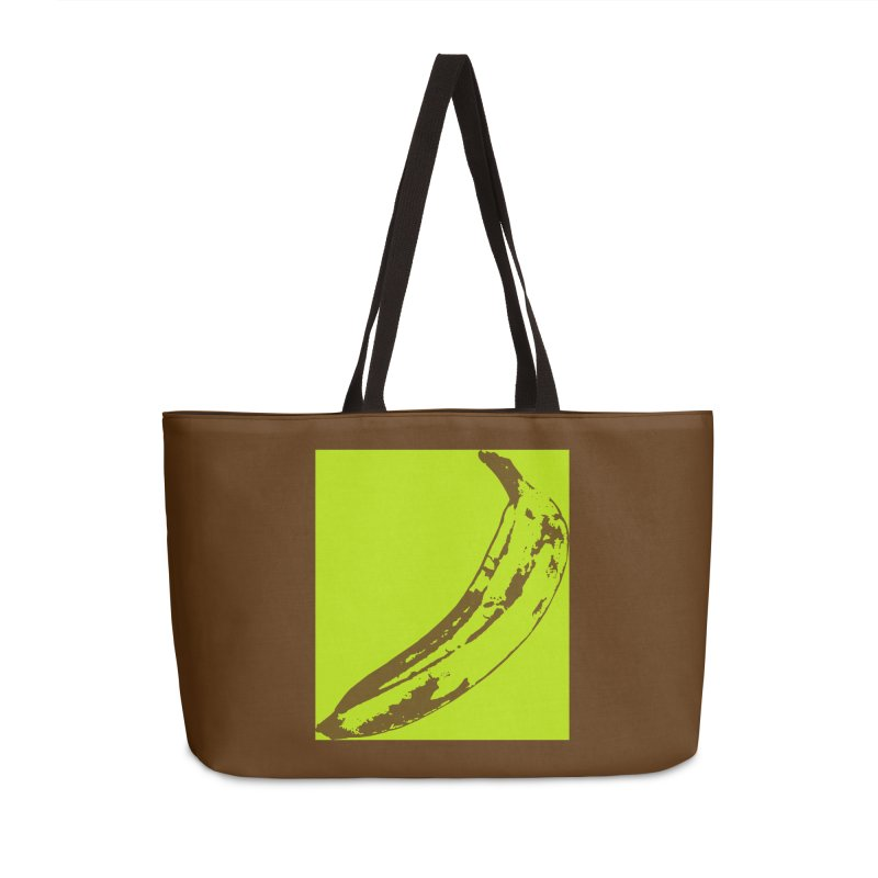 negative plantain Accessories Weekender Bag Bag by Izzy Berdan's Artist Shop