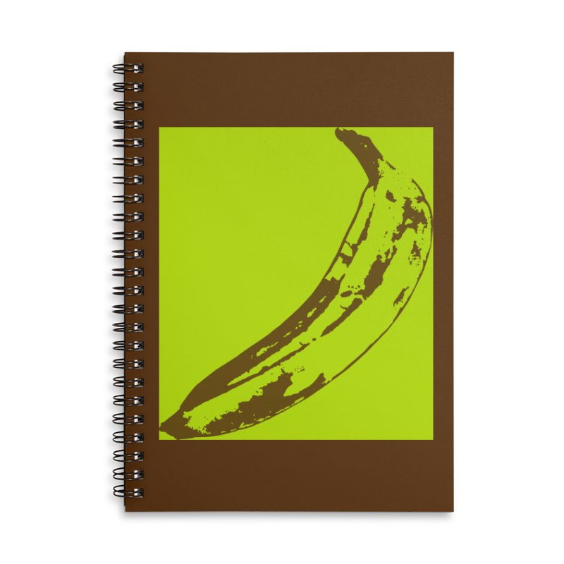 negative plantain Accessories Lined Spiral Notebook by Izzy Berdan's Artist Shop
