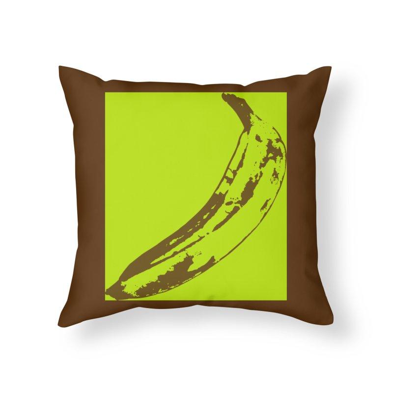 negative plantain Home Throw Pillow by izzyberdan's Artist Shop