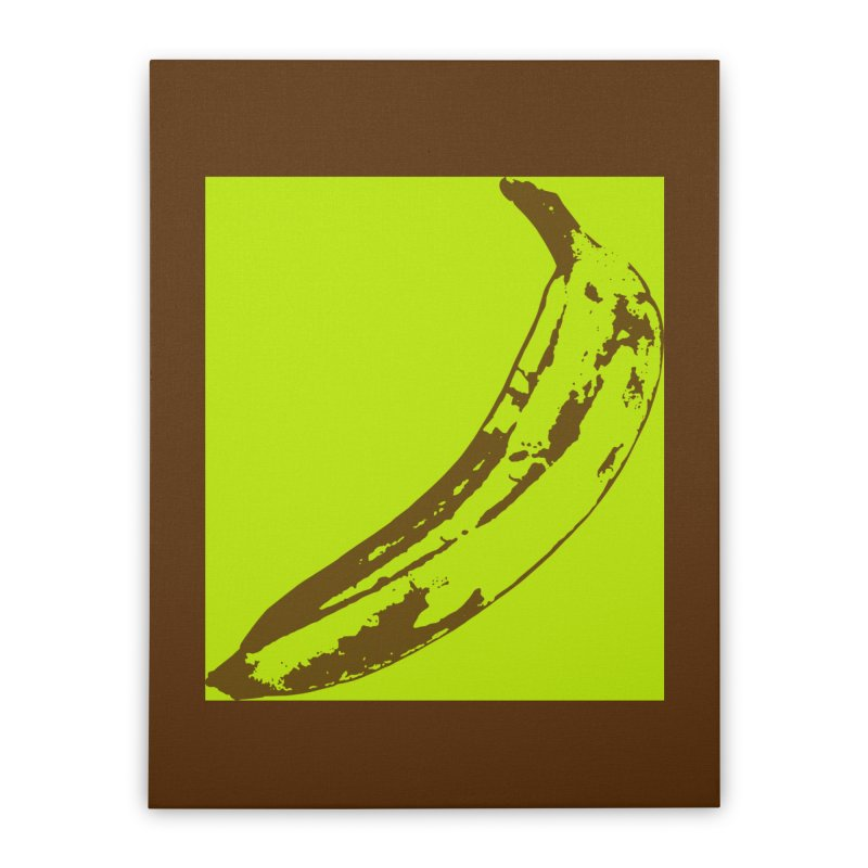 negative plantain Home Stretched Canvas by Izzy Berdan's Artist Shop