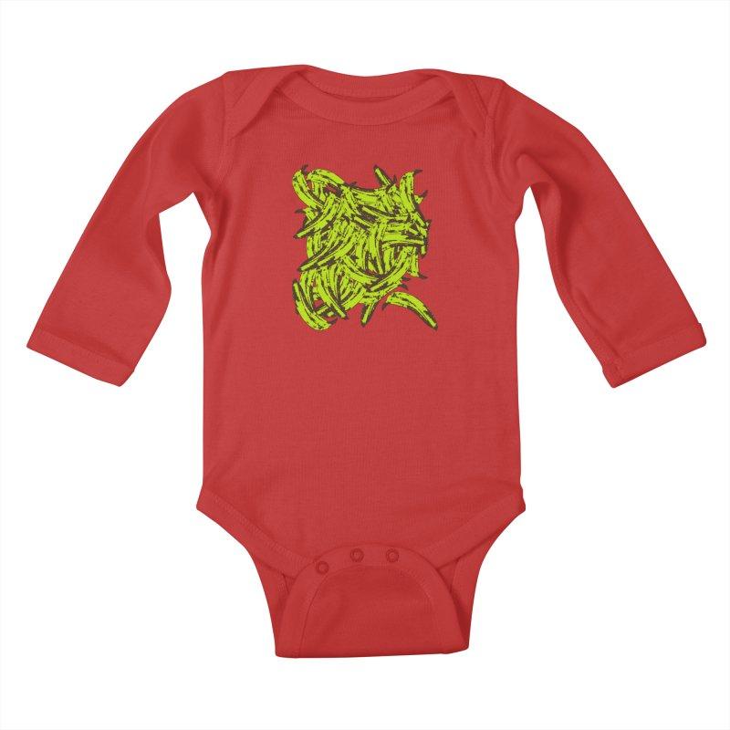 Pile-O-Plantains Kids Baby Longsleeve Bodysuit by Izzy Berdan's Artist Shop