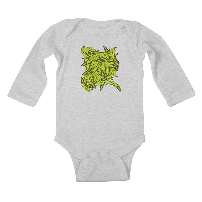 Pile-O-Plantains Kids Baby Longsleeve Bodysuit by izzyberdan's Artist Shop