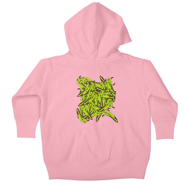 Pile-O-Plantains Kids Baby Zip-Up Hoody by Izzy Berdan's Artist Shop
