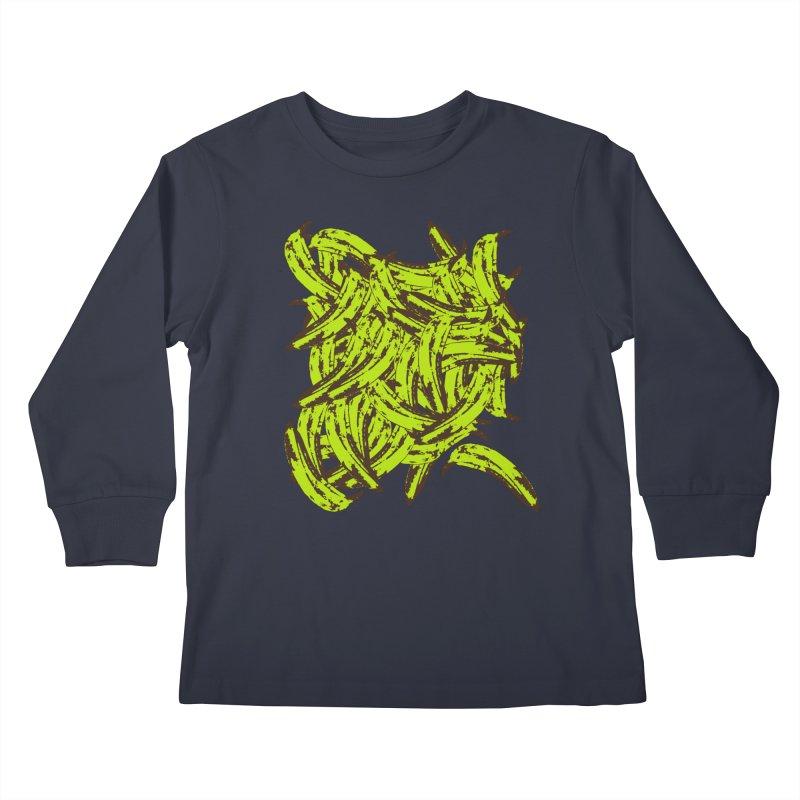 Pile-O-Plantains Kids Longsleeve T-Shirt by Izzy Berdan's Artist Shop