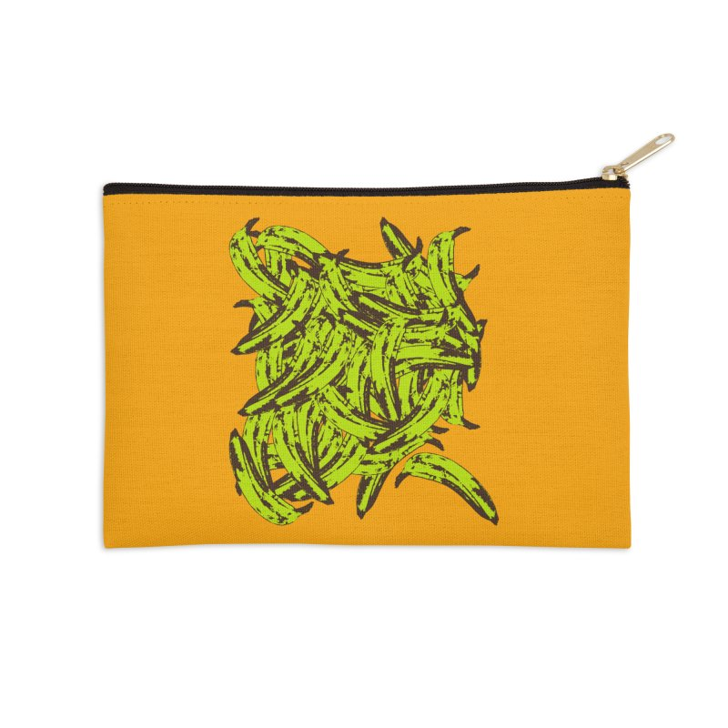 Pile-O-Plantains Accessories Zip Pouch by Izzy Berdan's Artist Shop