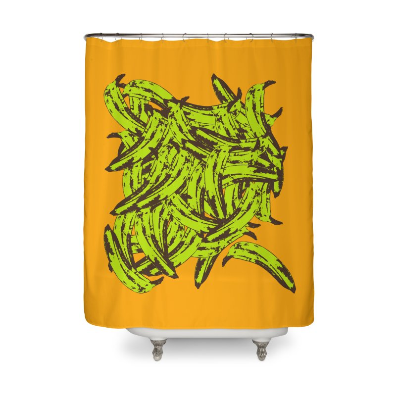 Pile-O-Plantains Home Shower Curtain by Izzy Berdan's Artist Shop