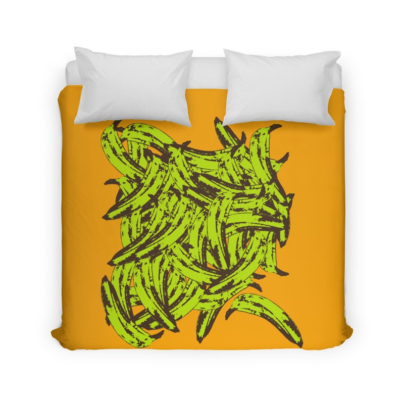 Pile-O-Plantains Home Duvet by Izzy Berdan's Artist Shop
