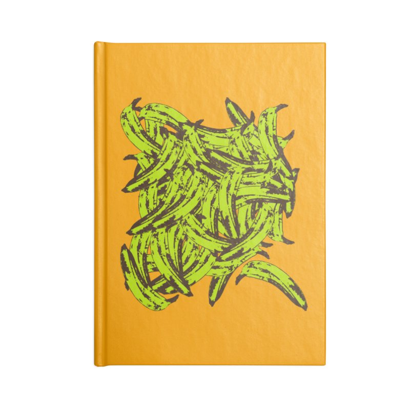 Pile-O-Plantains Accessories Lined Journal Notebook by Izzy Berdan's Artist Shop