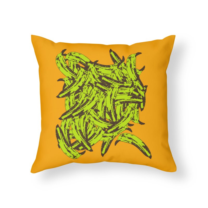 Pile-O-Plantains Home Throw Pillow by izzyberdan's Artist Shop