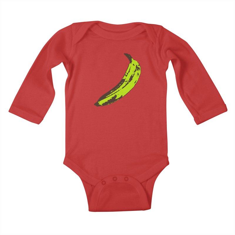 Put a plantain on it Kids Baby Longsleeve Bodysuit by Izzy Berdan's Artist Shop