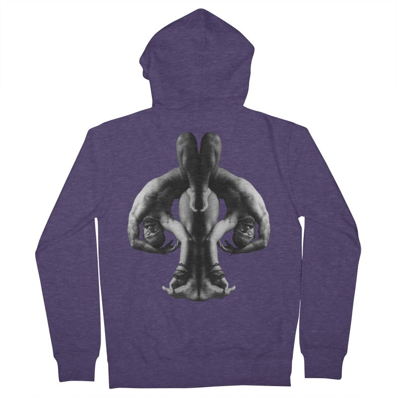 Rorschach Stretch Men's French Terry Zip-Up Hoody by Izzy Berdan's Artist Shop
