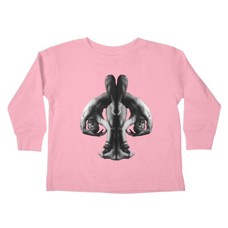 Rorschach Stretch Kids Toddler Longsleeve T-Shirt by Izzy Berdan's Artist Shop