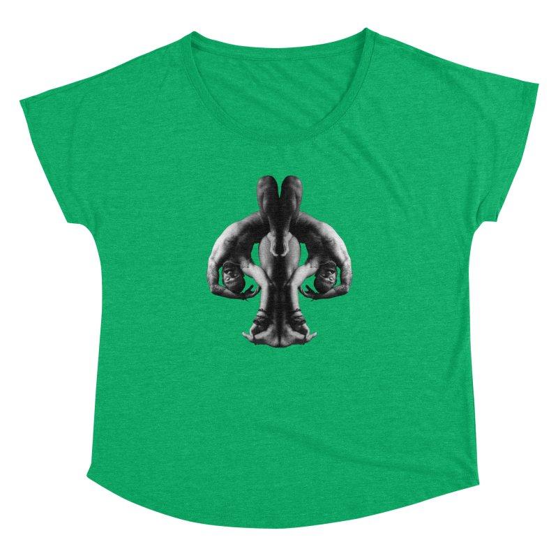 Rorschach Stretch Women's Dolman Scoop Neck by izzyberdan's Artist Shop