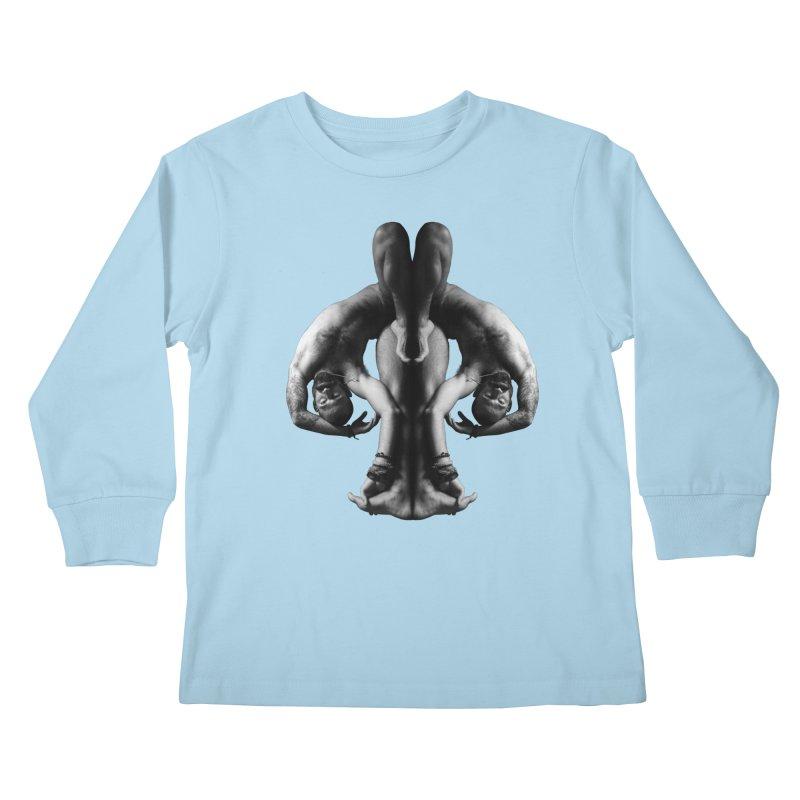 Rorschach Stretch Kids Longsleeve T-Shirt by Izzy Berdan's Artist Shop
