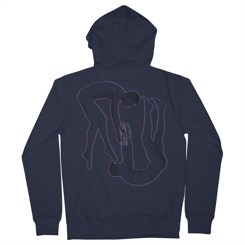 drifting apart Men's French Terry Zip-Up Hoody by Izzy Berdan's Artist Shop