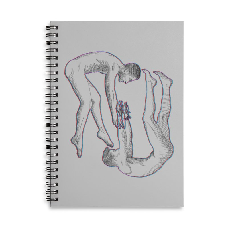 drifting apart Accessories Lined Spiral Notebook by Izzy Berdan's Artist Shop