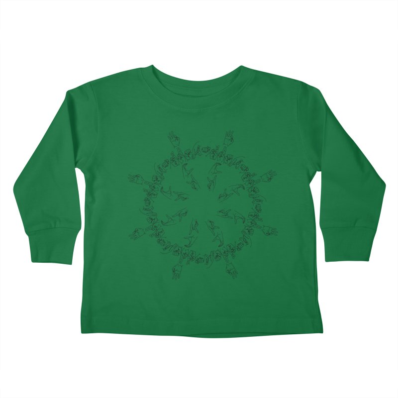 F*ck Trump Mandala b Kids Toddler Longsleeve T-Shirt by izzyberdan's Artist Shop