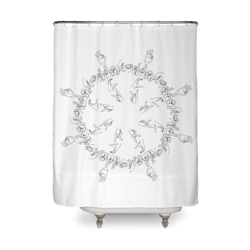 F*ck Trump Mandala b Home Shower Curtain by izzyberdan's Artist Shop