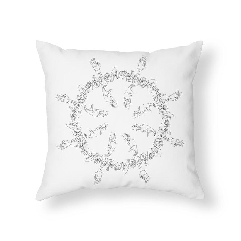 F*ck Trump Mandala b Home Throw Pillow by izzyberdan's Artist Shop